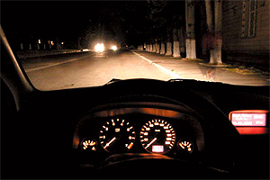 фото ночной трасса